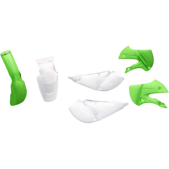 Acerbis Plastic Body Kit - OE' 12 White/Green - KX65/RM65/DRZ110/KLX110