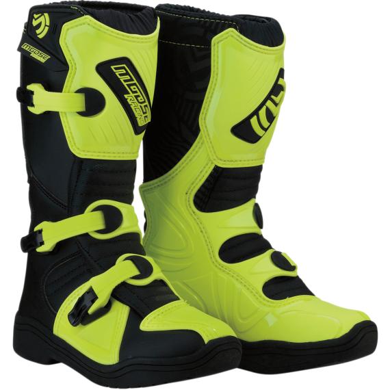 Moose Racing M1.3 Boots - Black/Hi-Viz - Size 6