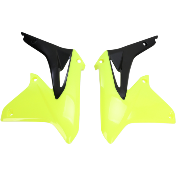 Acerbis Radiator Shrouds - RMZ 450 - Fluorescent Yellow/Black