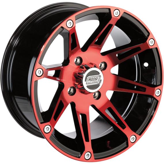 Moose Racing Wheel - 387RD - 12X7 - 4/136 - 4+3