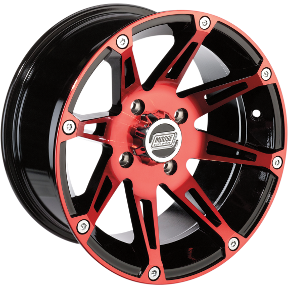 Moose Racing Wheel - 387RD - 12X8 - 4/110 - 4+4