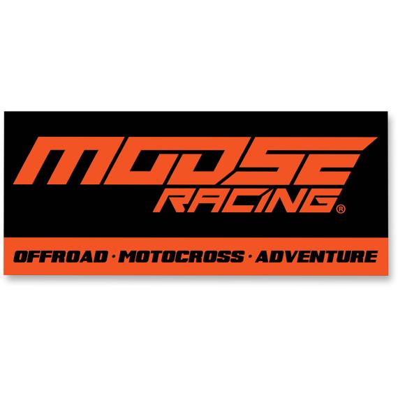 Moose Racing Track Banner - 7' - Black