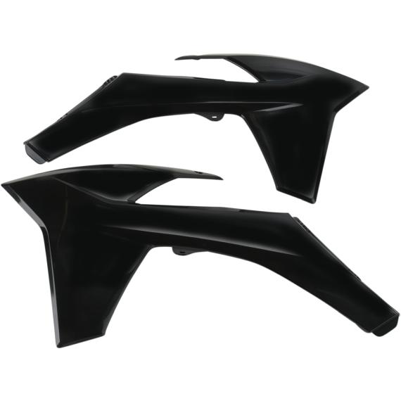 Acerbis Radiator Shrouds - KTM - Black