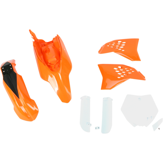 Acerbis Full Replacement Plastic Kit - '13 OE Orange/White/Black - SX65