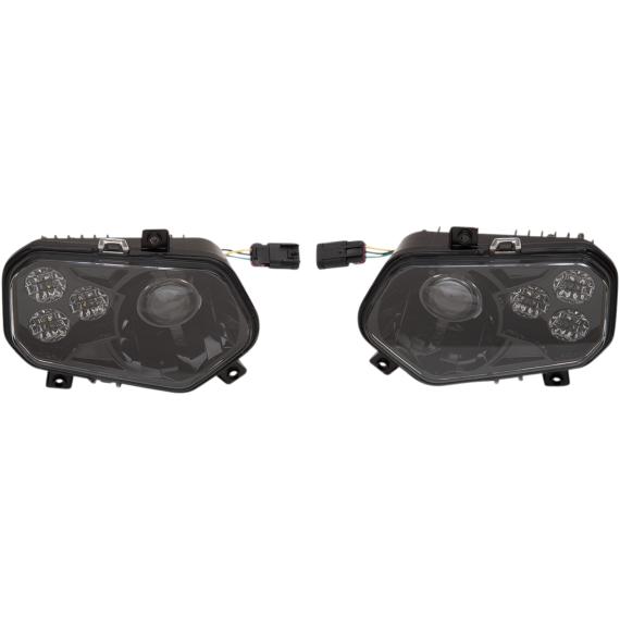 Moose Racing LED Headlight - RZR800/900 - Black