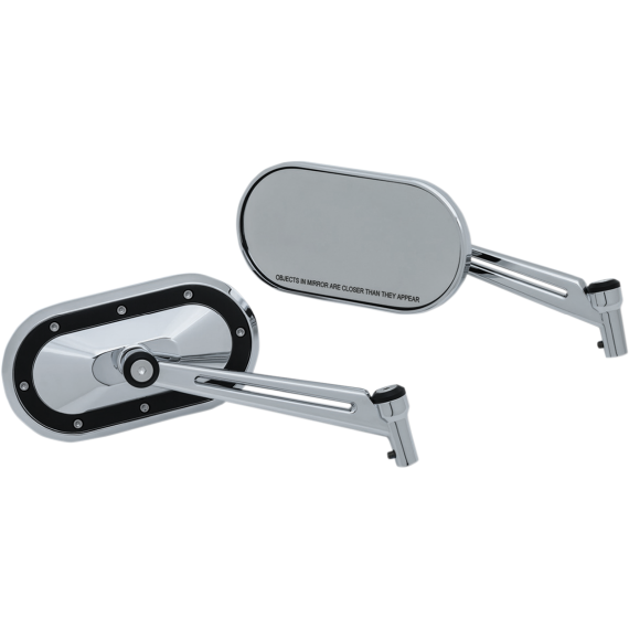 Kuryakyn Heavy Industry Mirrors - Chrome/Black
