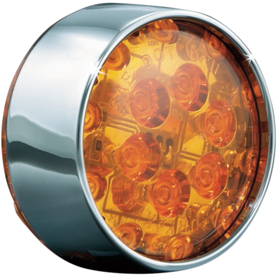 Kuryakyn Front Bullet LED Conversion - Chrome/Amber