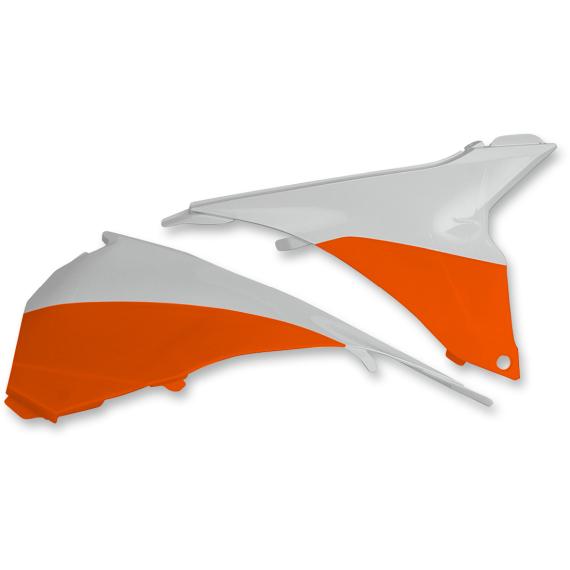 Acerbis Airbox Cover - KTM - White/16 Orange