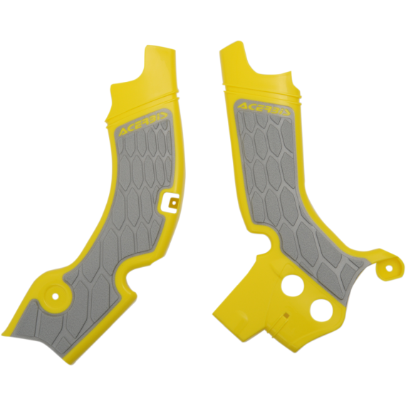 Acerbis X-Grip Frame Guards - RM-Z - Gray/Yellow