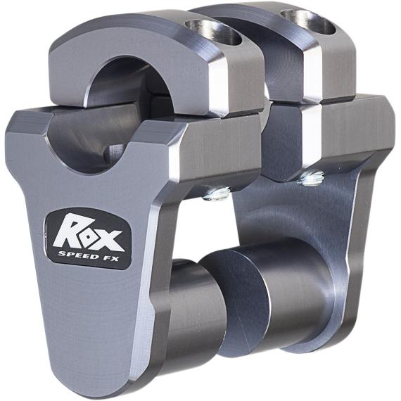"Rox Speed FX Gray 2"" Pivoting Riser for 1-1/8"" Handlebars"