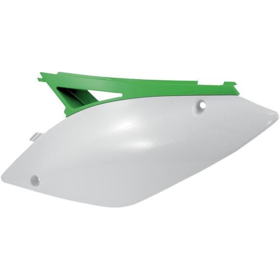 Acerbis Side Panels - KX450F - White/Green