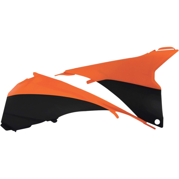 Acerbis Airbox Cover - KTM - Black/Fluorescent Orange