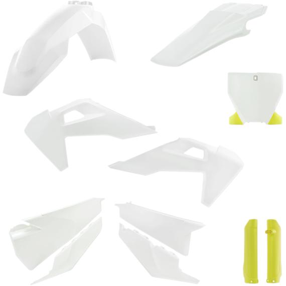 Acerbis Plastic Body Kit - OE White/Yellow '20
