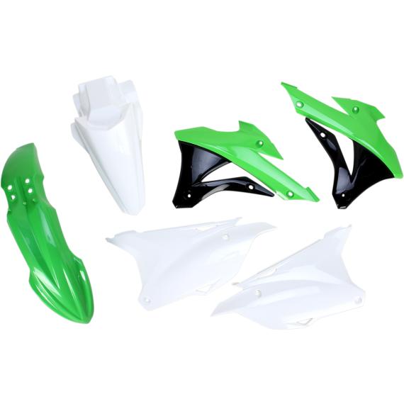 Acerbis Plastic Body Kit - OE '14-'15 White/Green/Black - KX85/100