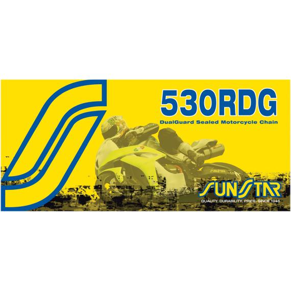 Sunstar Sprockets 530 RDG - Dualguard Sealed Motorcycle Chain - 120 Links