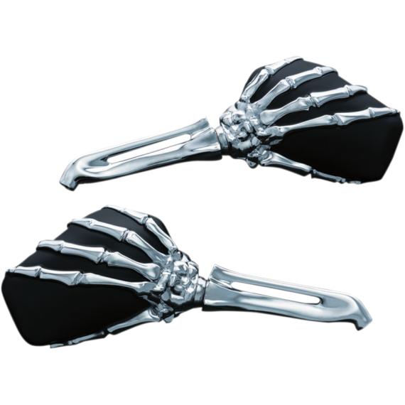 Kuryakyn Skeleton Mirror - Chrome/Black