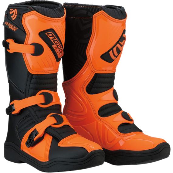 Moose Racing M1.3 Boots - Black/Orange - Size 4