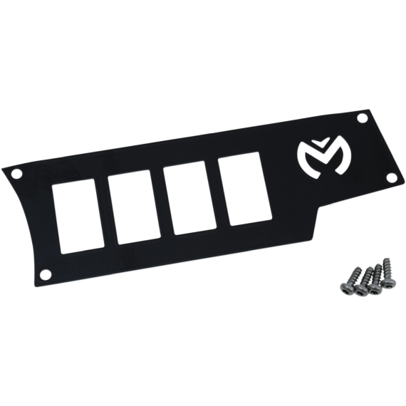 Moose Racing Dash Plate - Right - Black - RZR