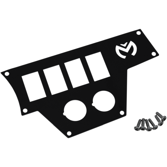 Moose Racing Large Dash Plate - Right - Black - RZR