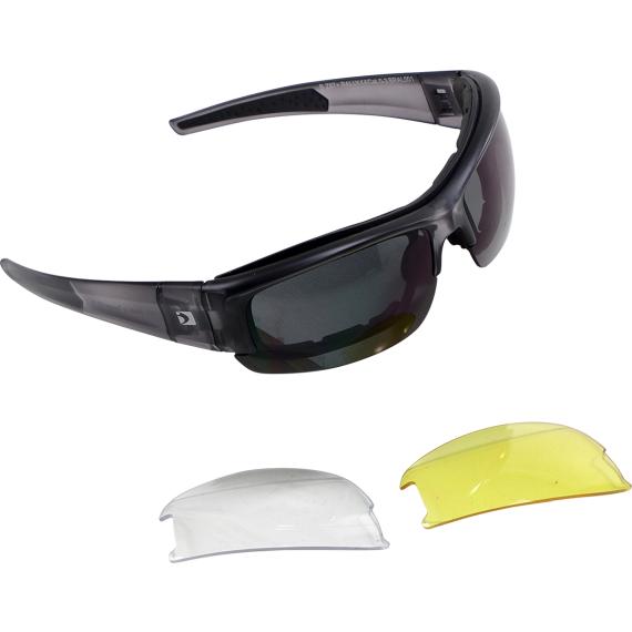 Bobster Rally Convertible Sunglasses - Matte Transparent Black - Interchangeable Lens