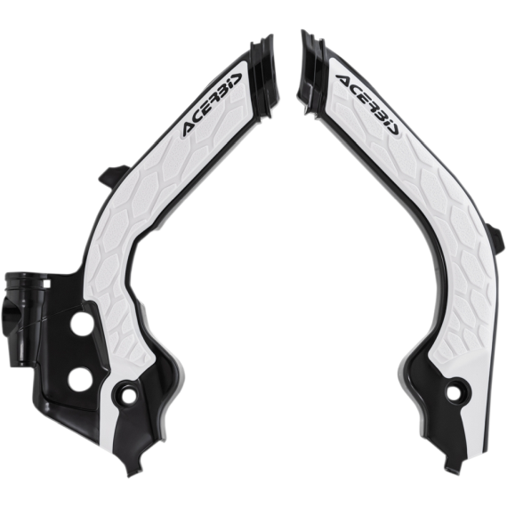 Acerbis X-Grip Frame Guards - Black/White