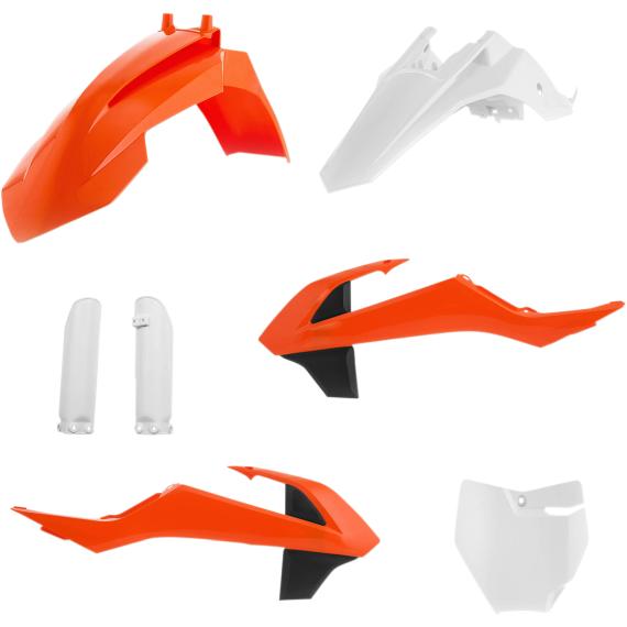 Acerbis Full Replacement Plastic Kit - '16 OE Orange/Black/White - SX65