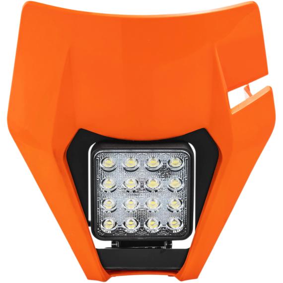 Acerbis Headlight Shell - Orange - KTM