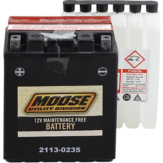 Moose Racing AGM Battery - YTX14AH-BS
