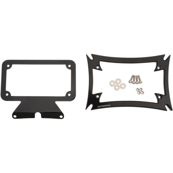 Motherwell Maltese License Plate Frame with Bracket - Gloss Black