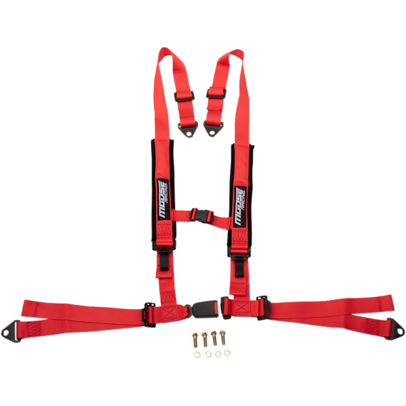 Moose Racing Seat Harness - 4 Point - 2x2 - Red