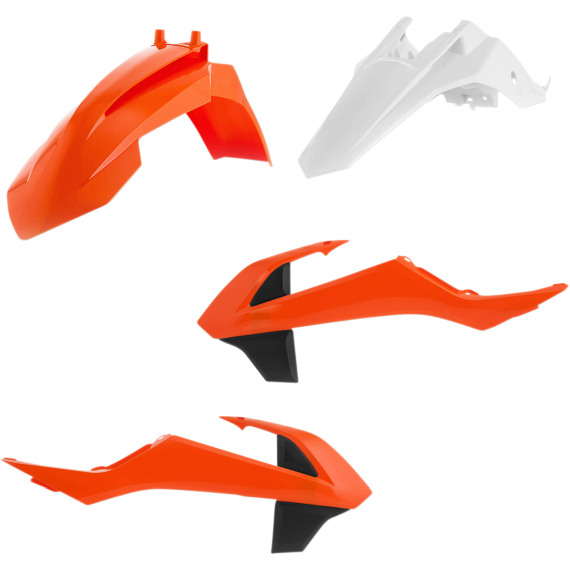 Acerbis Plastic Body Kit - Black/Orange/White - SX65 - '16