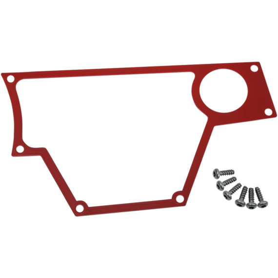 Moose Racing Large Dash Plate - Right - Red - RZR
