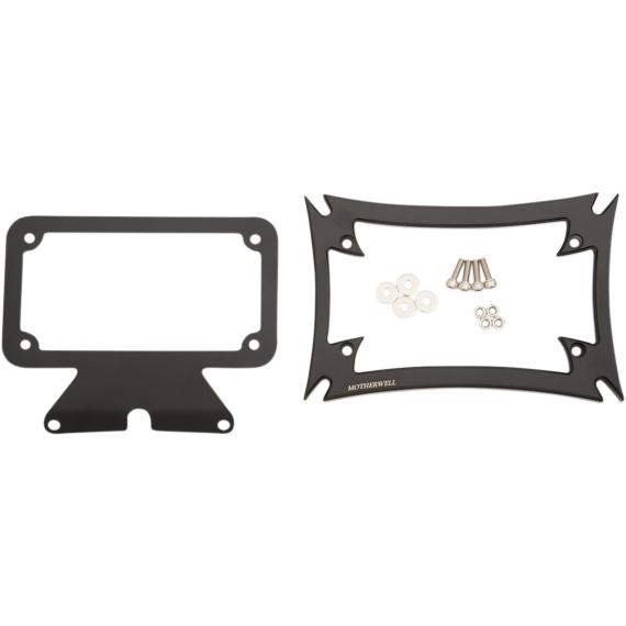 Motherwell Maltese License Plate Frame with Bracket - Matte Black