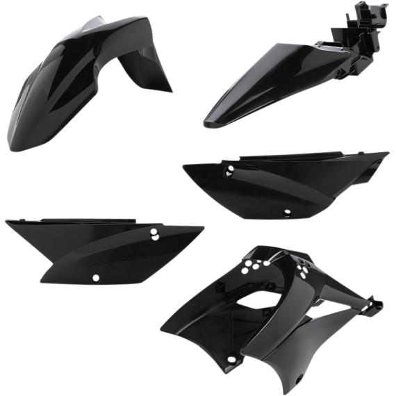 Acerbis Plastic Body Kit - Black - KLX110