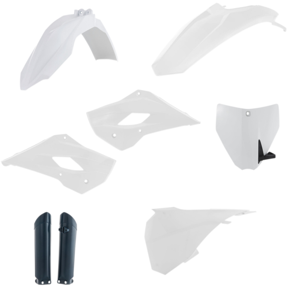 Acerbis Full Replacement Plastic Kit with Lower Airbox Cover - '17 OE White/Black
