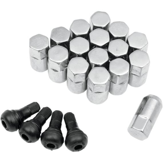 "Moose Racing Lug Nut - 3/8"" - Chrome - 16 Pack"
