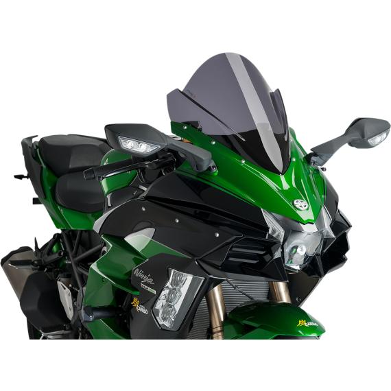 PUIG Race Windscreen - Dark Smoke - Kawasaki