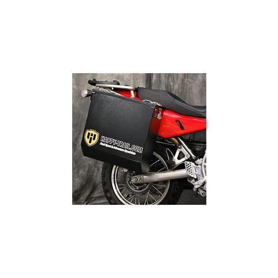 Happy Trails Products Aluminum Pannier Kit CASCADE - G650GS F650GS Single - Dakar Sertao