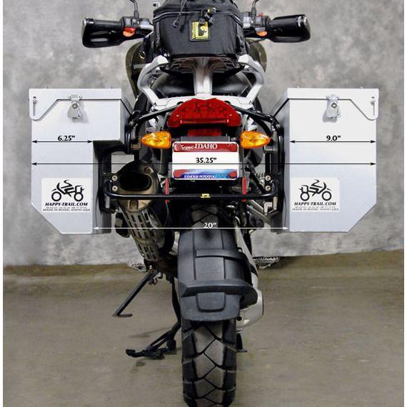 Happy Trails Products Aluminum Pannier TETON - BMW R1200 - Each (pre-drilled)