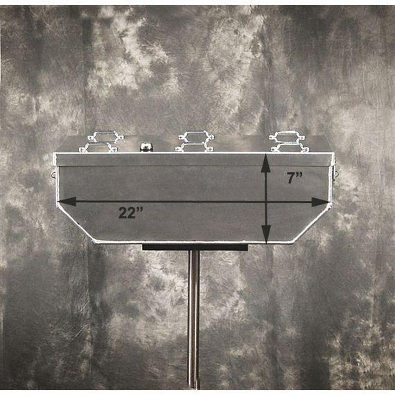"Happy Trails Products Aluminum Top Box 33 Liters - 14""x22""x7"" 2C"