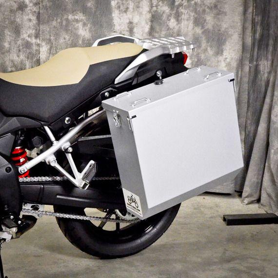 Happy Trails Products Aluminum Pannier Kit CASCADE Suzuki DL1000 2014+