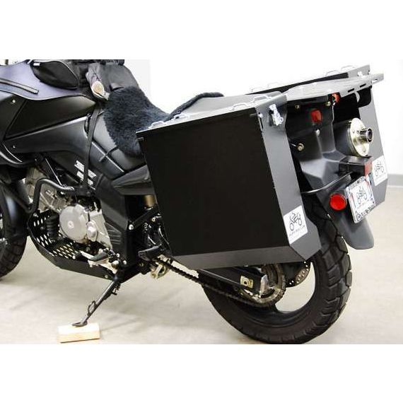 Happy Trails Products Aluminum Pannier Kit DENALI  Suzuki V-Strom 1000