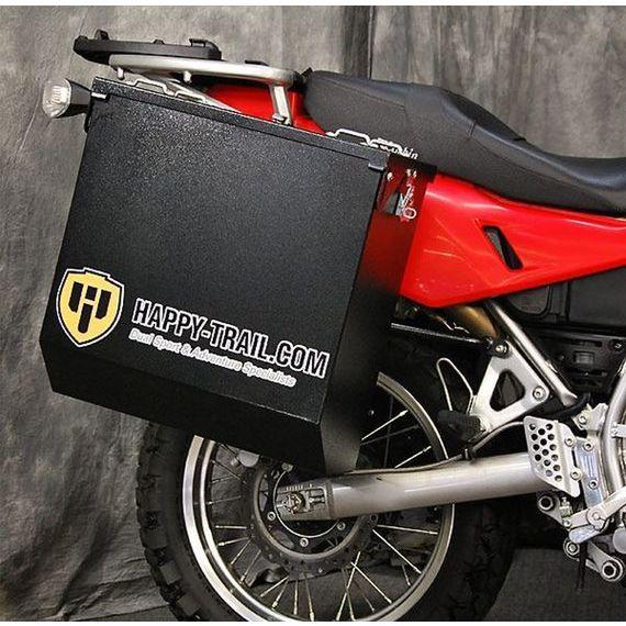 Happy Trails Products Aluminum Pannier Kit CASCADE  KLR650E 08+