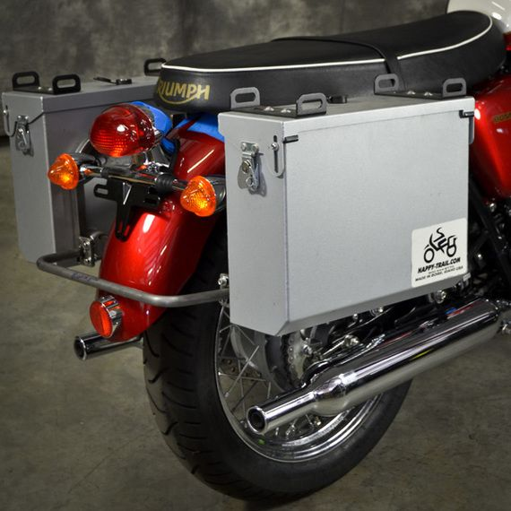 Happy Trails Products Aluminum Pannier Kit IMNAHA Triumph Bonneville