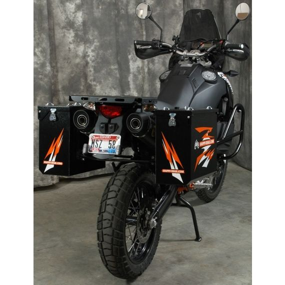 Happy Trails Products Aluminum Pannier Kit TETON - KTM-LC8-950-990 ADV