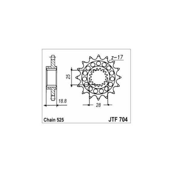 JT Sprockets 16 TOOTH FRONT SPROCKET - JTF704.16