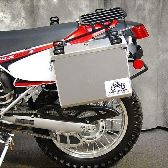 Happy Trails Products Aluminum Pannier Kit IMNAHA Kawasaki 2009+ KLX250S & KLX300 - Current