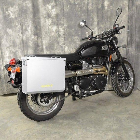Happy Trails Products Aluminum Pannier Kit OWYHEE - Triumph Scrambler