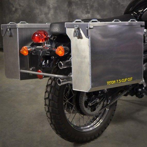 Happy Trails Products Aluminum Pannier Kit TETON -  Triumph Scrambler