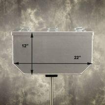 "Happy Trails Products Aluminum Top Box 58 Liters 14""x22""x12"""
